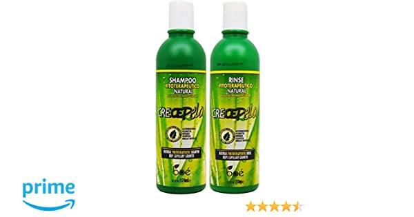 BOE Crece Pelo Shampoo + Rinse 12 oz Combo Set!! by BOE: Amazon.es: Belleza
