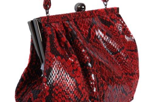 Mujer Olga Para Talla Única Berg Hombro Bolso Rosso Rojo Al qXXABZxw