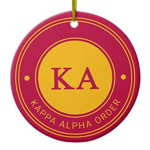 SheilaNelly Kappa Alpha Order | Badge Christmas Ornament Ceramic Circle 3 inch