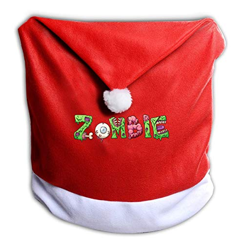 Halloween Zombie Monogram Non-Woven Xmas Christmas Themed Dinner Chair Cap Hat Covers Set Ornaments Backers Protector for Seat Slipcovers Wraps Coverings Decorations