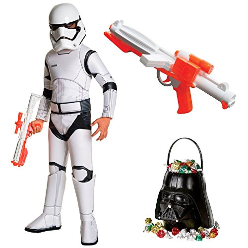 Star Wars Ep VIII: The Last Jedi - Storm Trooper SPR DLX Child Costume with Blaster and Candy Pail M ()
