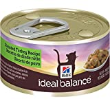 Hill's Ideal Balance Adult Roasted Turkey Recipe Canned Cat Food, 2.9 oz, 24-Pack