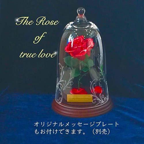 美女と野獣 一輪の赤い薔薇 天然ダイヤ付き B07459MF4S