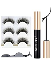 SCOBUTY Magnetic Eyelashes, Magnetic Eyeliner, Upgraded 3D, No Color, Size No Size