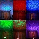 Fuloon - Ocean Relax Proyector,Lámpara nocturna, Lampara noche,Proyección de música con la lámpara USB + MP3 altavoz para bebe, luz infantil para niño niña y bebe