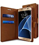 Premium Leather Flip Wallet Style Case Flip Cover Only for NEW Samsung Galaxy A7 (2017 Edition) SM-A720 - Dark Brown [NOT COMPATIBLE WITH ANY OTHER MODEL]