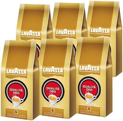 Lavazza Qualità Oro, Café en Grano, pack de 6, 6 x 1000g: Amazon.es: Alimentación y bebidas