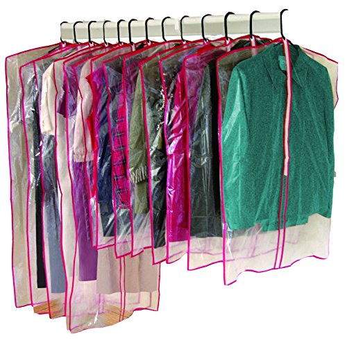 26 PIECE ZIPPERED GARMENT BAGS (CLEAR) - PROTECT YOUR GARMENTS FROM DUST!