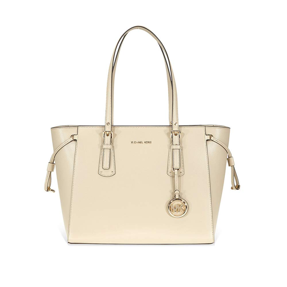 f4b54f7c2dee MICHAEL by Michael Kors Voyager Oat Leather Medium Top Zip Tote Bag one  size Oat: Amazon.co.uk: Shoes & Bags
