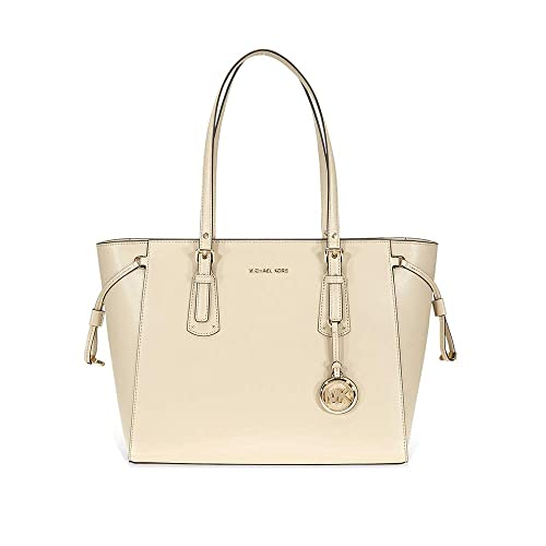db16d541f8eaca MICHAEL by Michael Kors Voyager Oat Leather Medium Top Zip Tote Bag one  size Oat