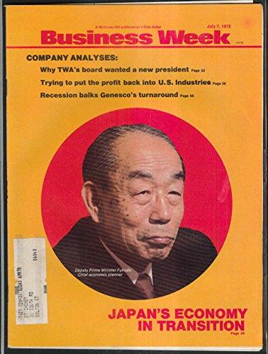 Business Week Japan Economy Fukuda Twa Genesco Recession    7 7 1975