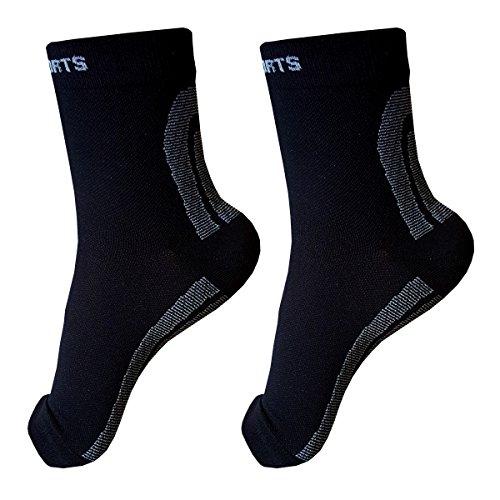 Fit Active Sports Foot Sleeves (1 pair) Best Plantar Fasc...
