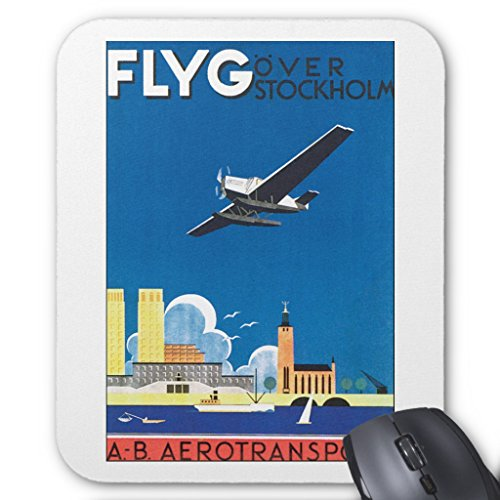 Price comparison product image Zazzle Flyg over Stockholm Mouse Pad