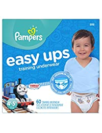 Pampers Boys Easy Ups Training Underwear, 4T-5T (Size 6), 60 Count