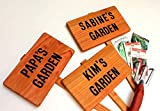 PAPA'S Garden Sign, Personalized Garden, Cedar Wood Sign: Hand Routed, Custom Name, Gift for gardener, Gift for Grandpa, Dad Gift