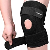 WINOMO Knee Brace Adjustable Open Patella Support for Meniscus Tear and Arthritis Relief - Knee Compression Sleeves for Running, Basketball, Gym, and Joint Pain Knee Stabilizer