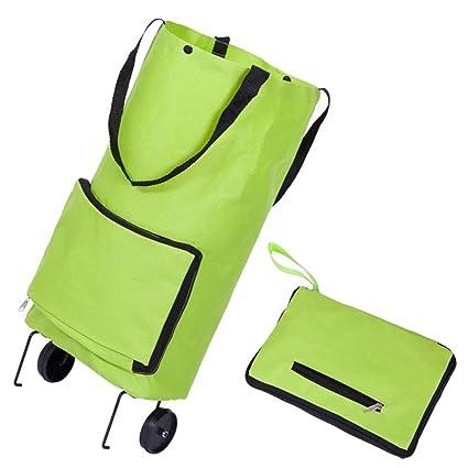 94970604f5a5 Amazon.com - DCRYWRX Wheel Shopping Bags Folding Stretching ...