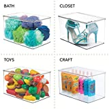 mDesign Stackable Closet Plastic Storage Box with