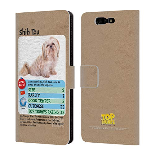 Official Top Trumps Shih Tzu Dogs Leather Book Wallet Case Cover for Xiaomi Black Shark ()