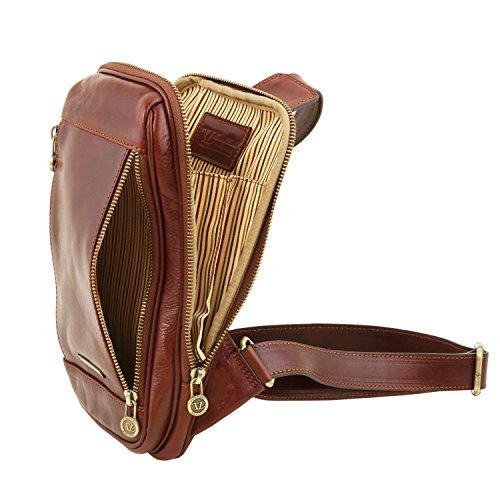 Leather en Marrón oscuro Tuscany con TL141536 Oscuro piel Marrón Martin Riñonera bandolera dUtT6w