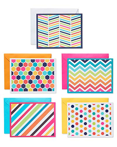 American Greetings Bright Pattern Cards and Colored Envelopes, 30-Count
