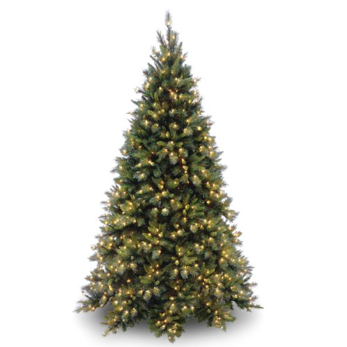 National Tree 7.5 Foot Tiffany Fir Medium Tree with 700 Clear Lights, Hinged ()