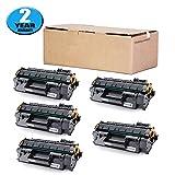 Hobbyunion 05A CE505A Toner Cartridge Replacement for HP CE505A 05A Toner Cartridge 5 Pack (CE505A 05A Laserjet Toner Cartridge) Fits in HP LaserJet P2035 P2035N P2050 P2055 P2055D P2055DN P2055X
