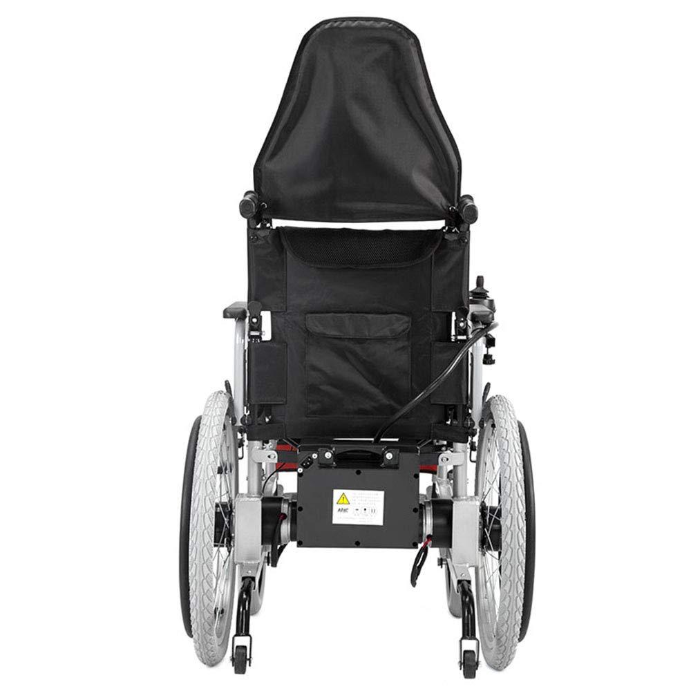 Amazon.com: Silla de ruedas eléctrica plegable, batería de ...