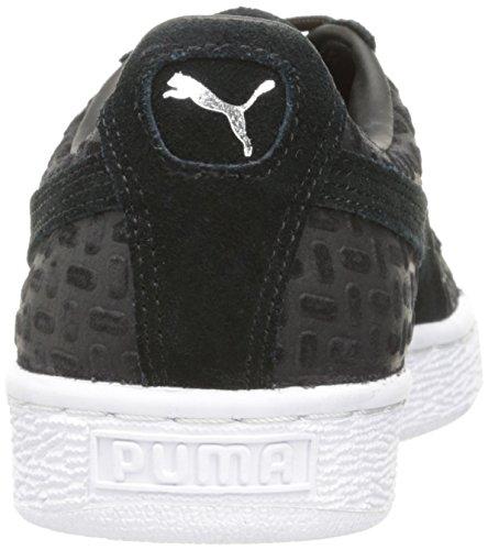 Sneaker Puma Da Uomo Classico In Rilievo Scamosciato V2 Moda Nero
