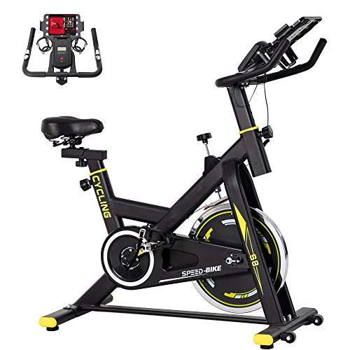 BINHIA Exercise Bike Indoor Cycling Bike Stationary – Cycle Bike with Ipad Mount &Comfortable Seat Cushion