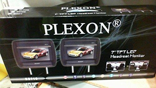"Headrest 7"" LCD Car Monitors with Region Free DVD player USB SD Inc. Wireless Headhones and 32 Bit Games (Black, Pair)"