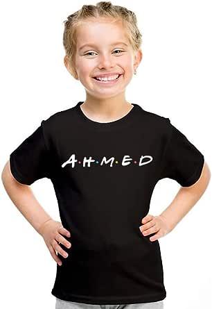kharbashat ahmed T-Shirt for Girls, Size 30 EU, Black
