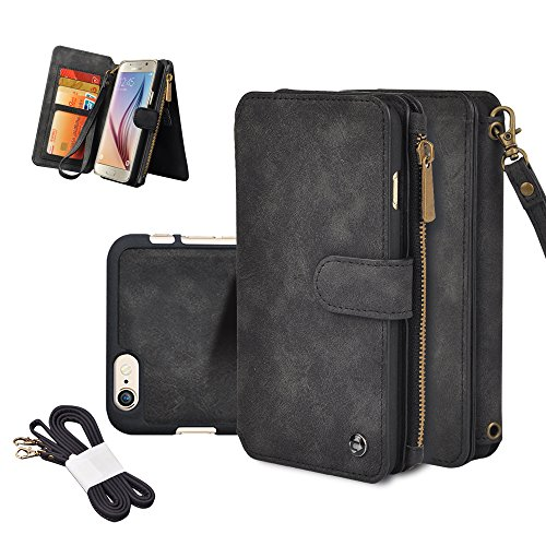 IPhone Wallet Cornmi Detachable Leather