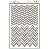 Hazel & Ruby Stencil Mask Peel Away Pattern Sheet, 12 by 18-Inch, Chevron