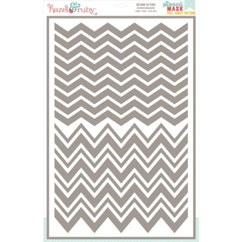 Hazel & Ruby Stencil Mask Peel Away Pattern Sheet, 12 by 18-Inch, Chevron by Hazel & Ruby