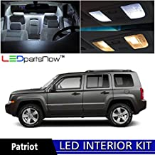 LEDpartsNOW Jeep Patriot 2007 & Up Xenon White Premium LED Interior Lights Package Kit (6 Pieces) + TOOL