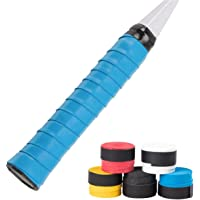 10-Pack Overgrip Racket Handle Grip Tape for Tennis, Badminton and Pickleball 5 Colors Includes 10 Rolls Racket Grips