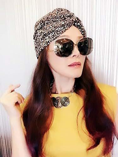Amazon.com: Sequin Turban,Womens Turban,Full Turban,Turban