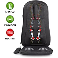 Snailax Shiatsu Massage Seat Cushion With Heat & 4 Rolling Nodes