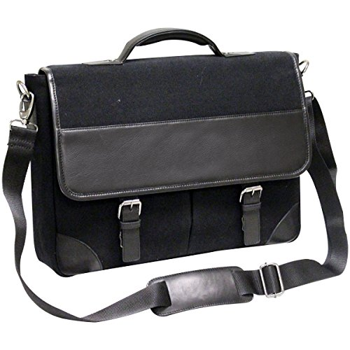 - Bellino Livingston Leather Briefcase, Black, One Size