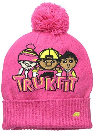 TRUKFIT Big Girls' Classic Beanie Hat, Magenta, One Size