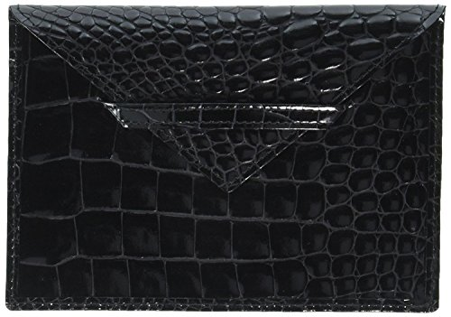 Envelope Croco - Budd Leather Croco Bidente 4 x 6 Inches Photo Envelope, Black (US 41856-1)