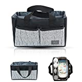 Kobwa Baby Diaper Caddy Organizer, Large Portable Nursery Tote Bag for All Diaper Sizes, Basket for Boys Girls, Newborn Registry Must Haves