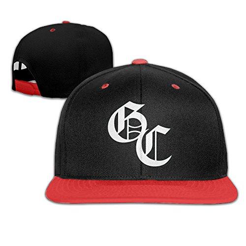 ZOENA Good Charlotte GC Logo Hip-Hop Cotton Hats Jogging Caps Red
