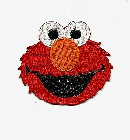 6 pc set Sesame Street Elmo Faces Fabric Applique Iron On Ons