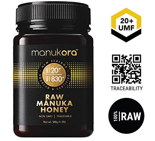 Manukora UMF 20+/MGO 830+ Raw Mānuka Honey (500g/1.1lb) Authentic Non-GMO New Zealand Honey, UMF & MGO Certified, Traceable from Hive to Hand