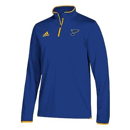 b9e5f0bcd70b4 Amazon.com : adidas St. Louis Blues Adult NHL Breakaway 1/4 Zip ...