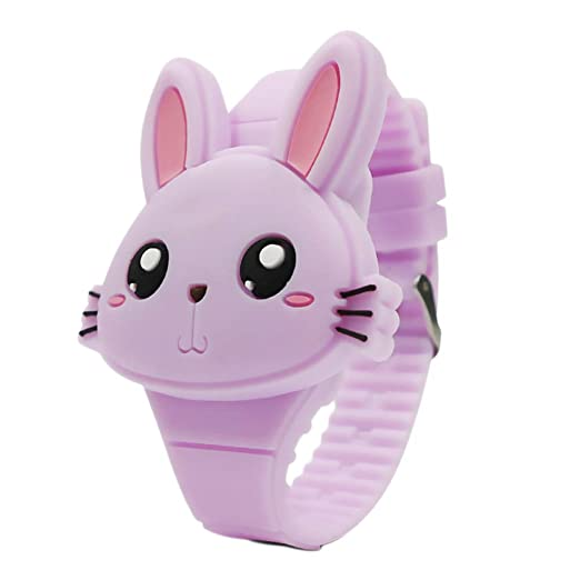 Reloj de Pulsera Digital para niños Relojes Infantiles Reloj de niña Conejos Reloj Deportivo para niños