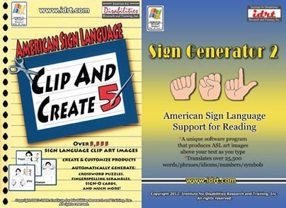 Creative Package: ASL Clip and Create 5 and Sign Generator 2