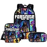 Fortnite Game Fortress Night Backpack Student Bag Set BR-073